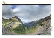 Highline Trail Overlooking Going To The Sun Road - Glacier National Park Carry-all Pouch