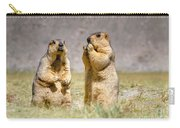 Himalayan Marmots Pair Standing In Open Grassland Ladakh India Carry-all Pouch