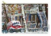 Achetez Les Meilleurs Peintures De Scenes De Montreal En Hiver Winter Scene Paintings Carry-all Pouch
