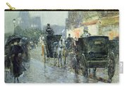 Horse Drawn Cabs At Evening In New York Carry-all Pouch by Childe Hassam