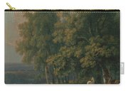 Horses And Cattle By A River Carry-all Pouch