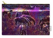 Horses Flock Coupling Ride Animals  Carry-all Pouch