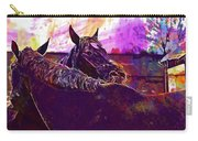 Horses Harmony For Two Animal World  Carry-all Pouch