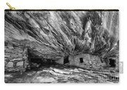 House On Fire Ruin Utah Monochrome 2 Carry-all Pouch