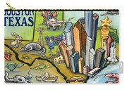 Houston Texas Cartoon Map Carry-all Pouch