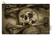 Human Skull And Bones Carry-all Pouch