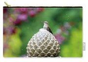 Hummingbird On Garden Water Fountain Carry-all Pouch