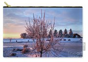 Icy Tree At Sunset  Carry-all Pouch