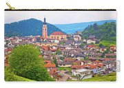 Idyllic Alpine Town Of Kastelruth On Green Hill View Carry-all Pouch