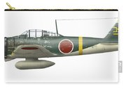 Illustration Of A Mitsubishi A6m2 Zero Carry-all Pouch