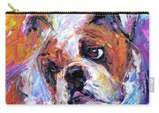 Impressionistic Bulldog Painting  Carry-all Pouch by Svetlana Novikova