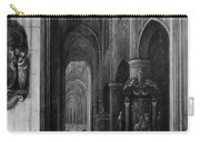 Interior Of A Gothic Church At Night Carry-all Pouch