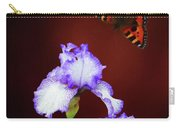 Iris And Butterfly Carry-all Pouch