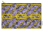 Iron Chains With Mosaic Seamless Texture Carry-all Pouch