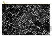 Irvine California Usa Dark Map Carry-all Pouch