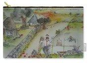 Italian  Landscape Scroll Carry-all Pouch