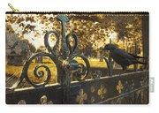 Jackdaw On Church Gates Carry-all Pouch by Amanda Elwell