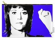 Jane Fonda Mug Shot - Blue Carry-all Pouch