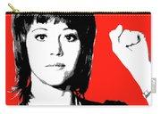 Jane Fonda Mug Shot - Red Carry-all Pouch