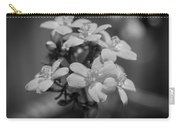 Jatropha Blossoms Painted Bw Carry-all Pouch