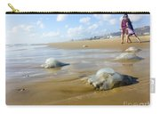 Jellyfish On The Beach  Carry-all Pouch