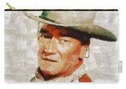 John Wayne By Mary Bassett Carry-all Pouch