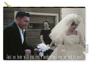 Just Married Quote Carry-all Pouch
