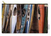Kayaks Lined Up On Wall Carry-all Pouch