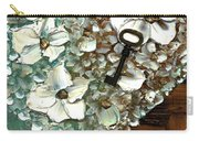 Heart Key Modern Valentines Day Art Carry-all Pouch