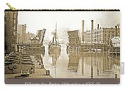 Kilbourn Avenue Bridge, Milwaukee, Wisconsin, 1915-1920, Vintage Carry-all Pouch