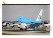 Klm Royal Dutch Airlines Boeing 747 Airplane Landing At San Francisco Airport In San Francisco, Cali Carry-all Pouch