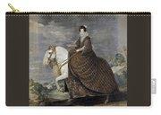 La Reina Isabel De Borbn A Caballo Diego Rodriguez De Silva Y Velazquez Carry-all Pouch