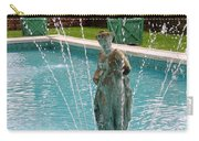 Lady In Fountain Carry-all Pouch