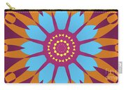 Landscape Purple Back And Abstract Orange And Blue Star Carry-all Pouch