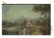 Landscape With A Group Of Figures Fishing Carry-all Pouch