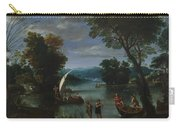 Landscape With A River And Boats Carry-all Pouch
