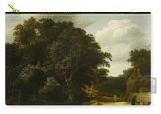 Landscape With A Village Road Carry-all Pouch