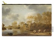 Landscape With Fishers Carry-all Pouch
