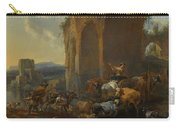 Landscape With Herdsmen Beneath Ruins Carry-all Pouch