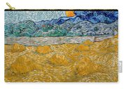 Landscape With Wheat Sheaves And Rising Moon Carry-all Pouch