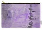 Lavender Gray Abstract Carry-all Pouch