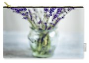 Lavender Still Life Carry-all Pouch by Nailia Schwarz