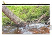 Leaning Tree Trunk By A Stream Carry-all Pouch