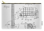 Les Paul  Guitar Patent From 1955 Carry-all Pouch
