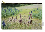 Lilac Flower In Green Canvas Spring Has Arrived 2 Carry-all Pouch