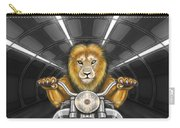 Lion On Motorcycle Carry-all Pouch