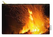 Log Campfire Burning At Night Carry-all Pouch