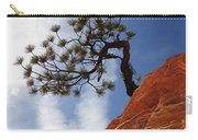 Lone Bonsai Tree In Zion Carry-all Pouch