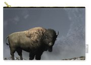 Lonely Bison Carry-all Pouch by Daniel Eskridge