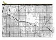 Long Beach California Usa Light Map Carry-all Pouch